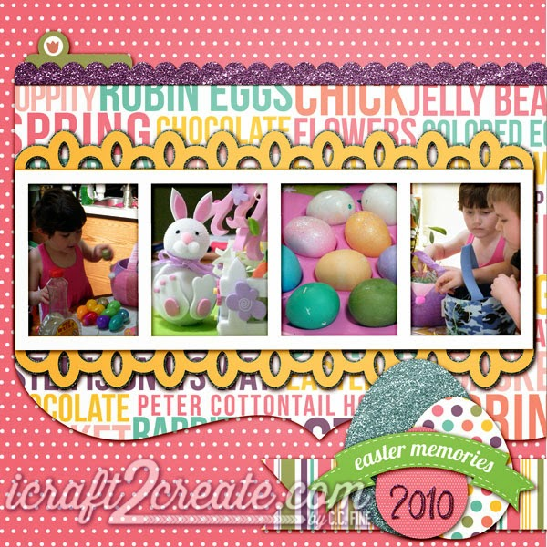 SVGCuts, Echo Park, Digital, Layout, Easter, Lettering Delights, Poplar Street Tulips, Photoshop