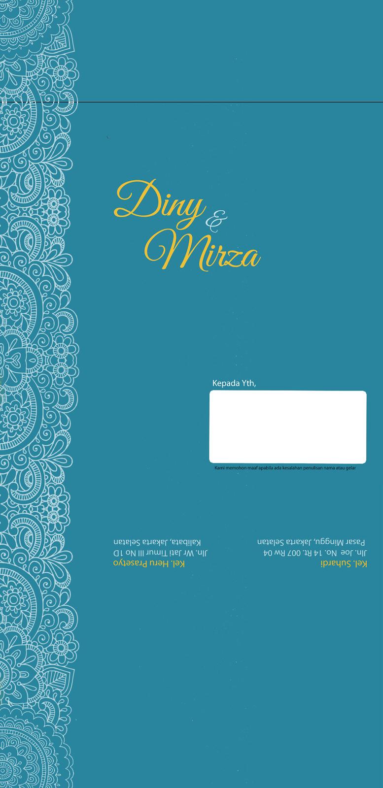 Undangan Pernikahan Bagian 2 Dunia Diny Kartu Ucapan Terima Kasih Kupon Souvenir 18