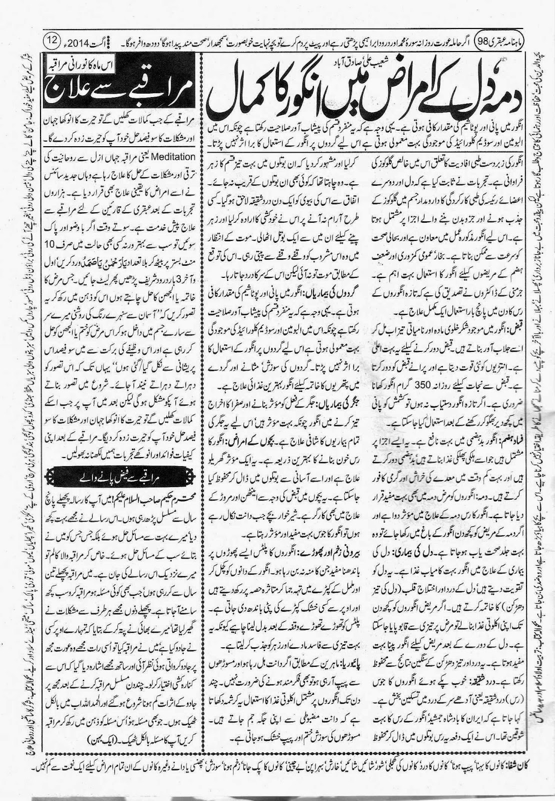 Ubqari August 2014 Page 12