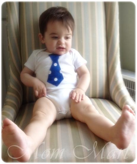My baby in a Tie Onsie