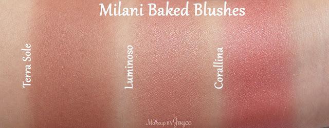 Milani Luminoso vs Corallina Swatches
