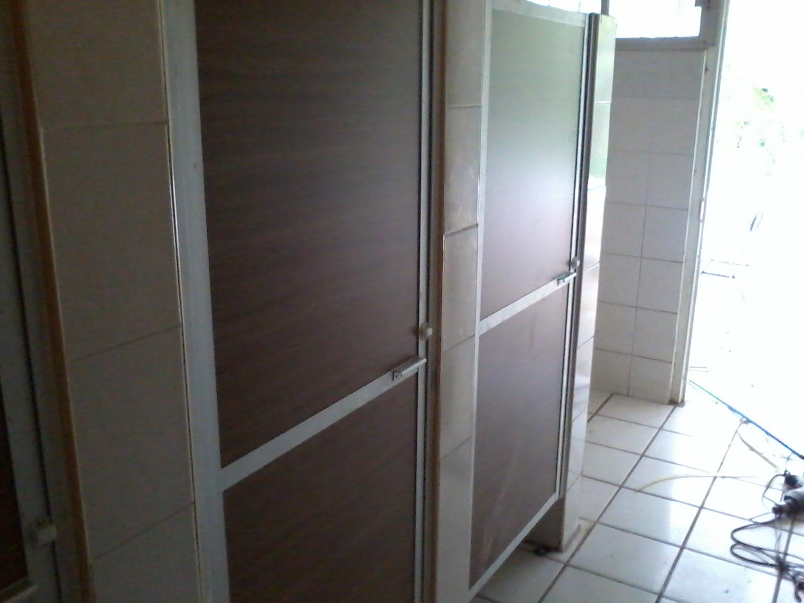 Puertas De Aluminio Blanco Para Baño:Puerta para baño en aluminio natural de 2 pulgadas y panelar color
