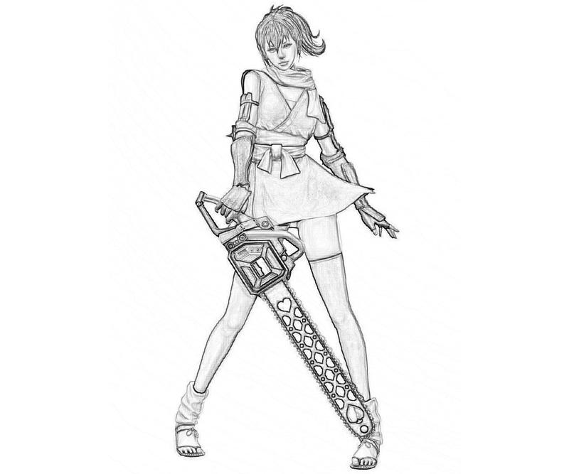 lollypop-chainsaw-juliet-starling-armored-coloring-pages