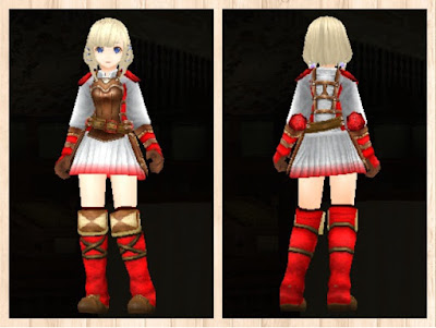 レザーアーマー・赤1&白3
