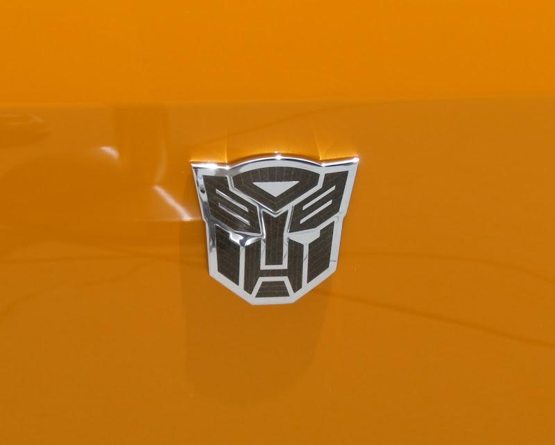 Bumblebee Camaro fender Autobot logo
