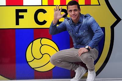 Fue presentado Alexis Sánchez con el Barça