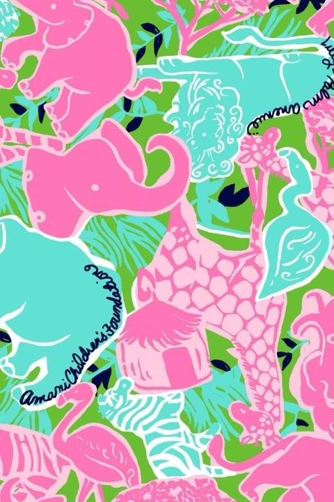 tickled pink Lilly iPhone Backgrounds