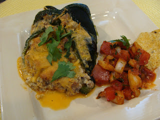 Queso Stuffed Pablano Peppers