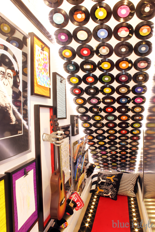 {DIY with style} How to Cover a Wall in Vinyl Records ...