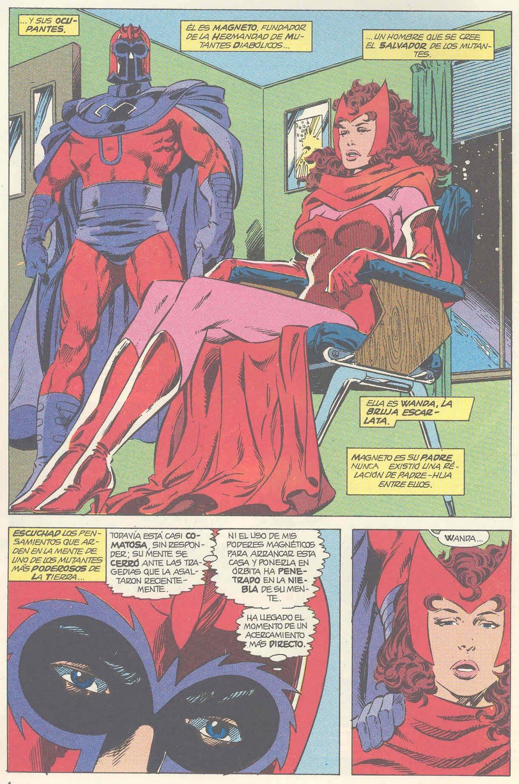 En este mismo número, continua las intrigas de Magneto. Punto uno