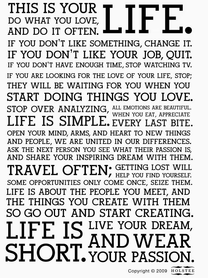 Rètol, que entre moltes altres cosses diu: The life is short.