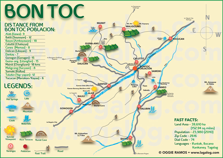 lagal og Philippines Travel and Photography Blog Bontoc – Philippines Tourist Attractions Map