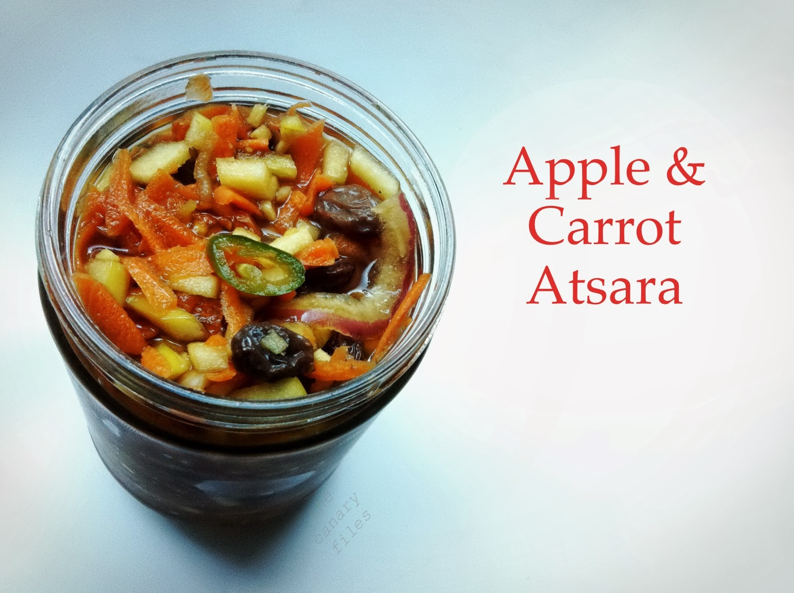 the canary files: pickled apple & carrot relish: an autumn-inspired
