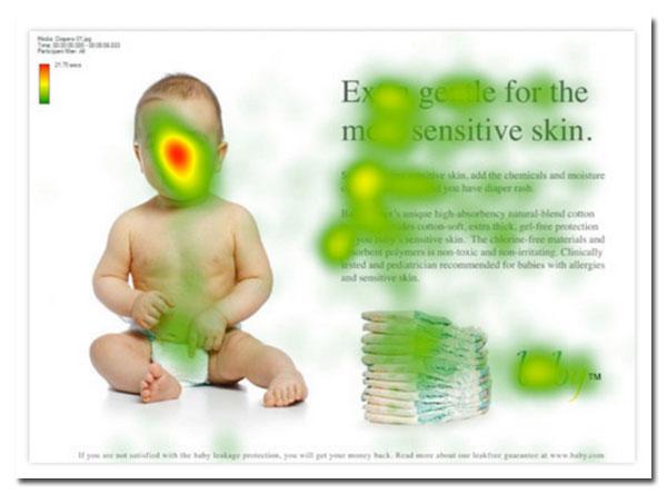 Eye-tracking et visage de bébé