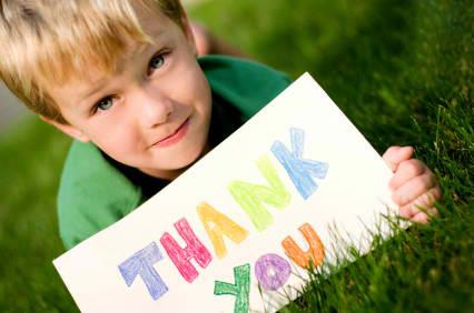 Kid Says Thank You
