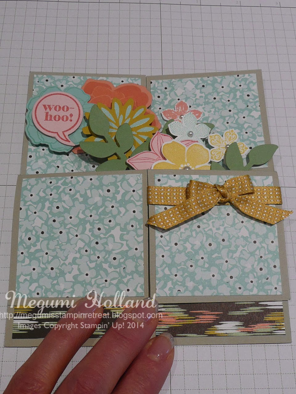 pop up flower card instructions