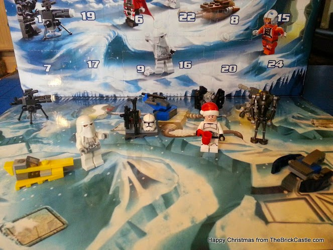 The LEGO Star Wars Advent Calendar December 10 fighter spaceship
