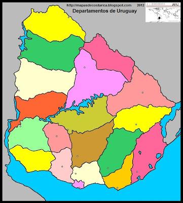 URUGUAY, Mapa Político de URUGUAY