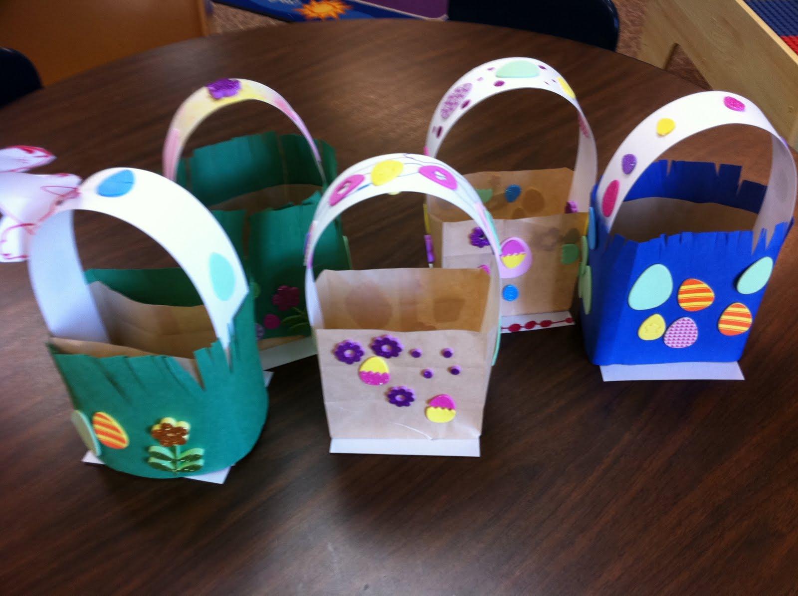 Geo paper easter basket craftbnb paper bag basket negle Images