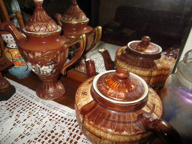 Fotografia macro de Bules de Chá de Porcelana