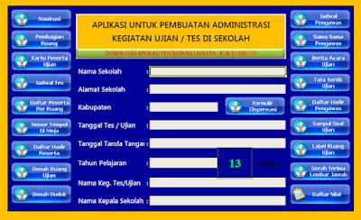 Aplikasi Perlengkapan Ujian (Ulangan harian, UTS, UNAS) Lengkap