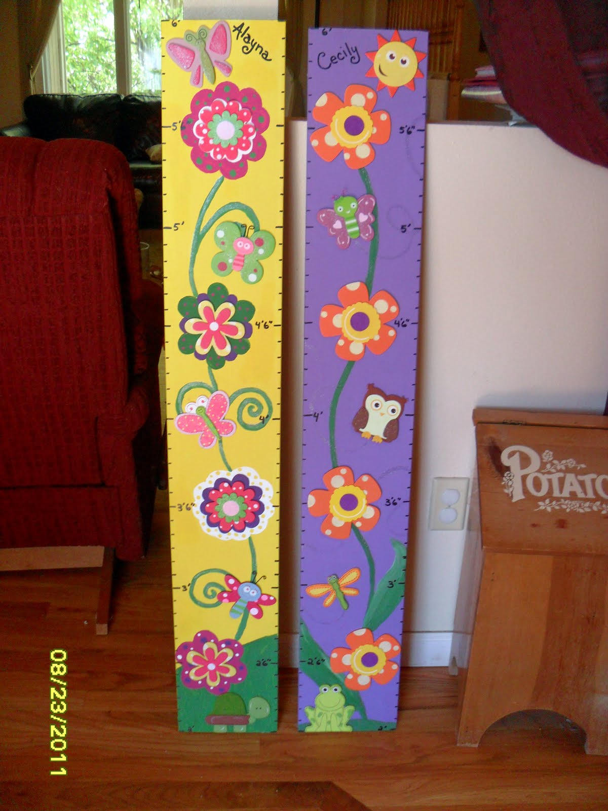 The mellin patch homemade wooden growth charts homemade wooden growth charts geenschuldenfo Images