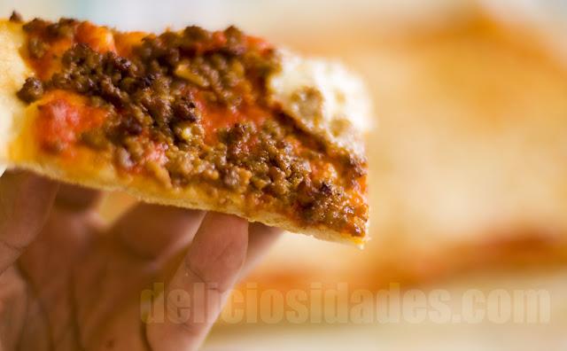 deliciosidades - Pizza de picadillo de ternera