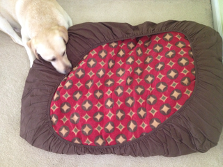 DIY NO SEW Doggy Bed or Floor Pillow TiPs *N* GiGgLeS!