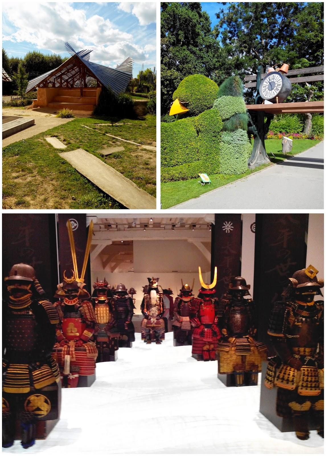 Jardin étoilé Jardin des Plantes Claude Ponti exposition les Samouraïs Bullelodie