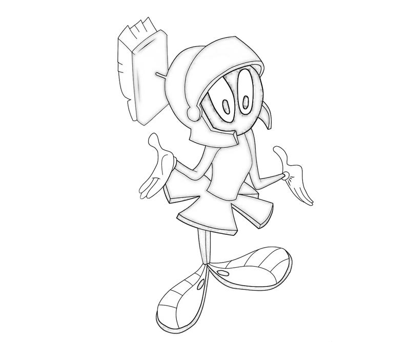 Marvin The Martian Free Colouring Pages Marvin The Martian Coloring Pages