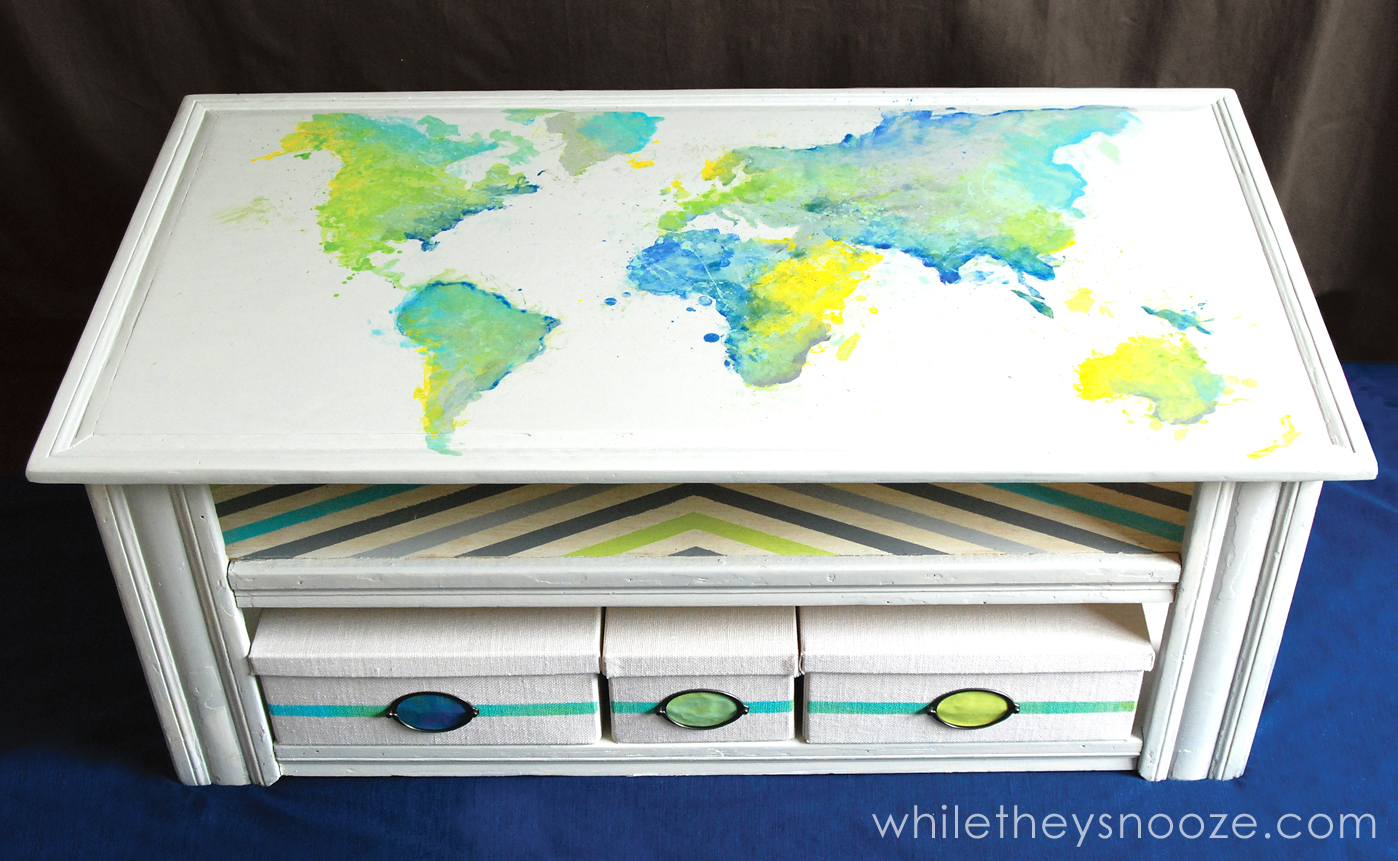 While They Snooze Diy Map Table Tutorial