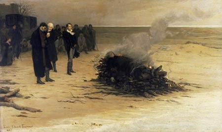 The Funeral of Shelley by Louis Edouard Fournier, 1889