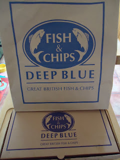 Packaging from Deep Blue Fish & Chips Who do Gluten Free Days