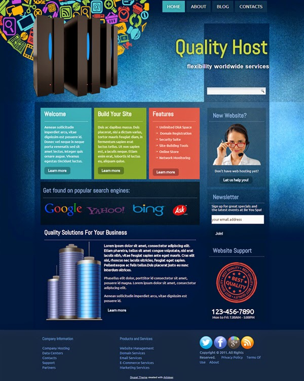 Quality Host - Free Drupal Theme