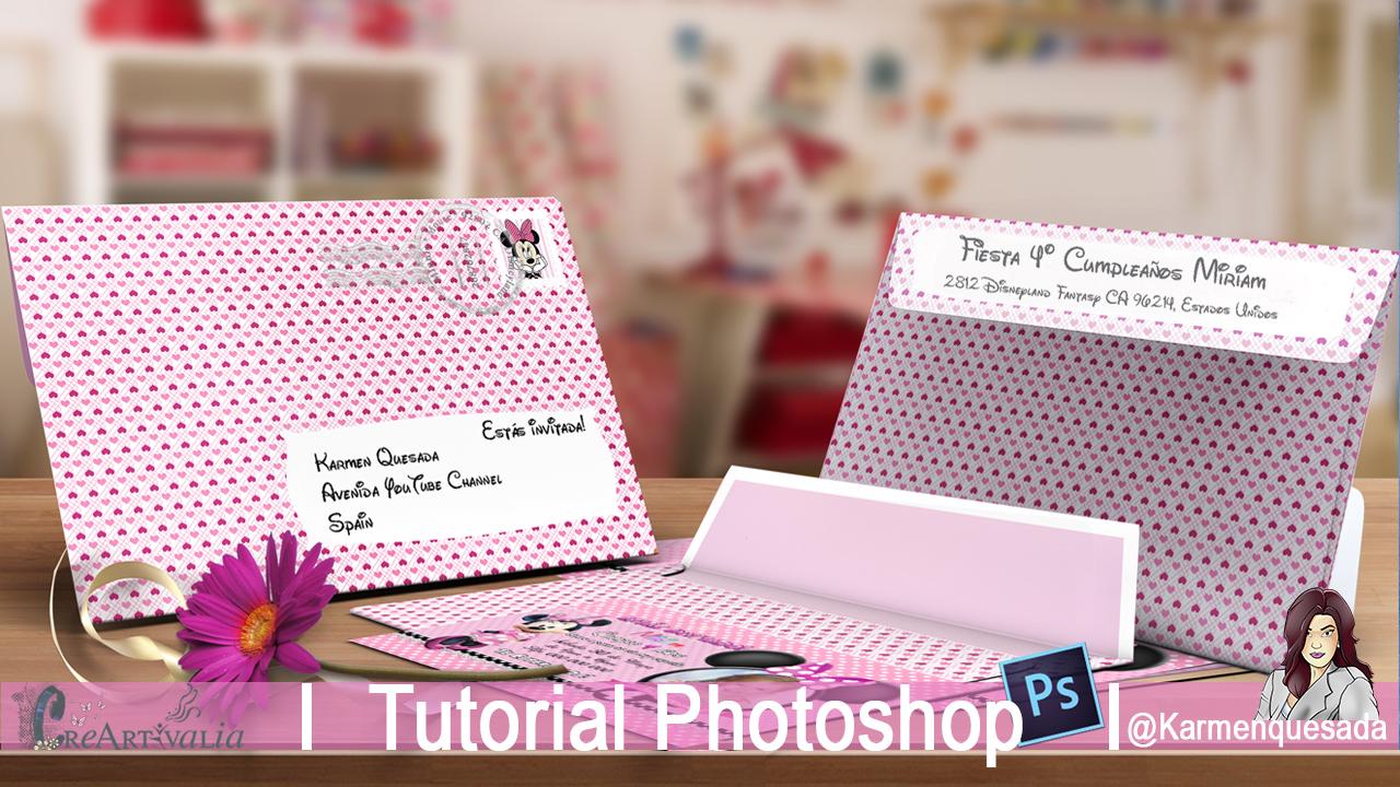 CreArtivalia: Sobre para tarjeta de cumpleaños, Tutorial Photoshop.