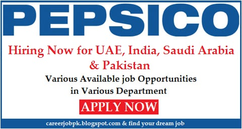 Pepsico jobs in Dubai and Other Countries 2016
