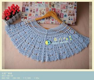 crochet poncho for girl