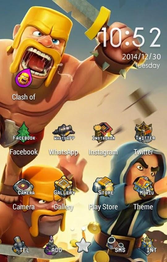 Theme Handphone Clash of Clans