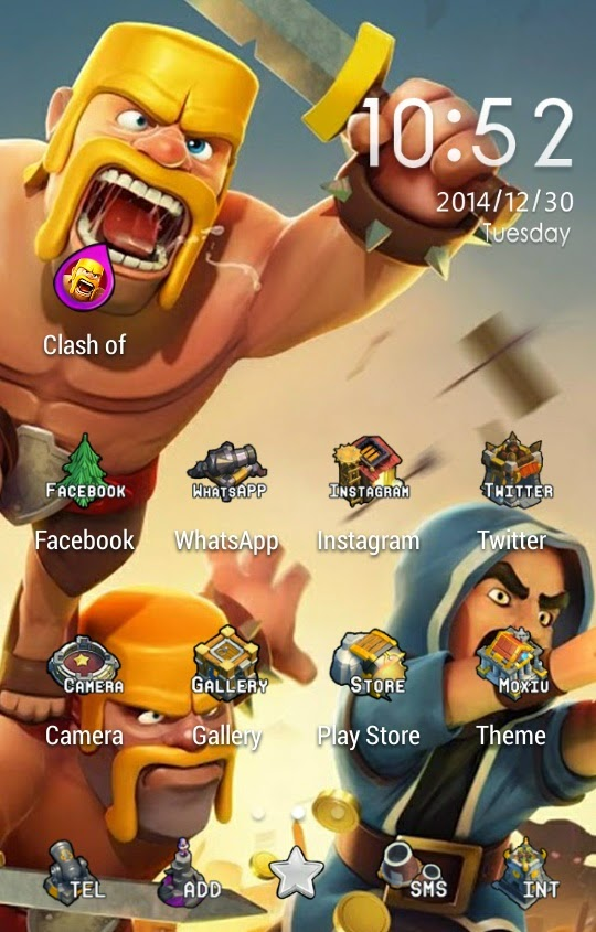 Theme Handphone Clash of Clans