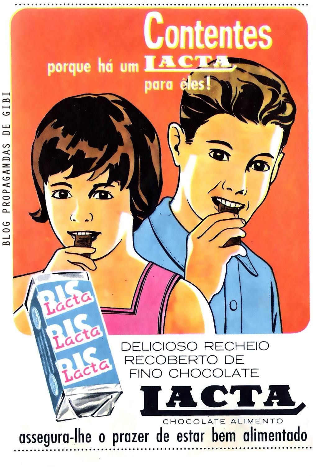 Propaganda do chocolate Bis (Lacta) em 1963.