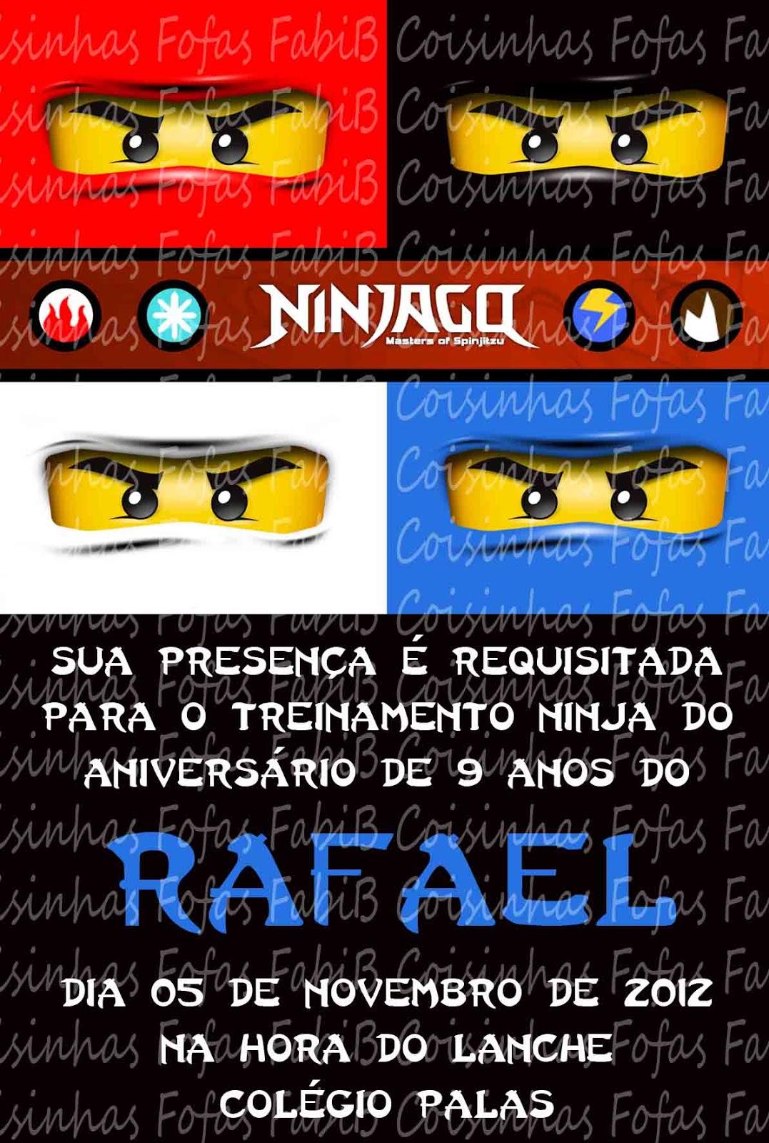 Fabib Convites Ninjago