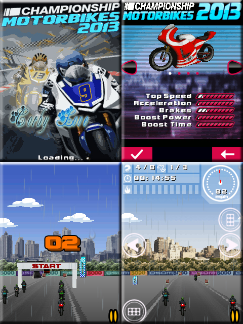 Championship Motorbikes 2013 240 x 320 Touchscreen Mobile Java Game