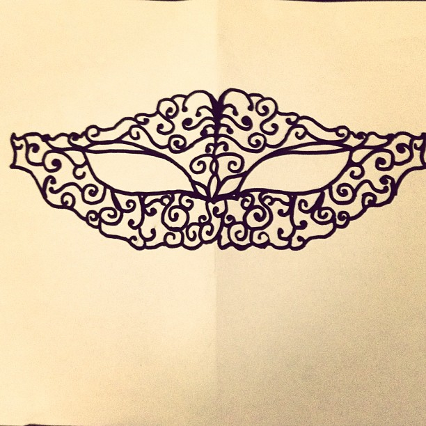 Masquerade Masks Templates For Girls My own template for a mask