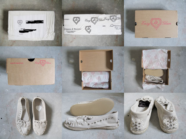 LdiR L'Artigiano di Riccione Moka tester day 1, shoes review, unboxing, fashion, style, personal style, shoes, moccasines, slippers, espadrilles, flats, ecclectic, boho chic, rock, glam, studded shoes, tassel, ivory color, haul, Made in Italy, Italian shoes, handmade shoes, Chachamisu