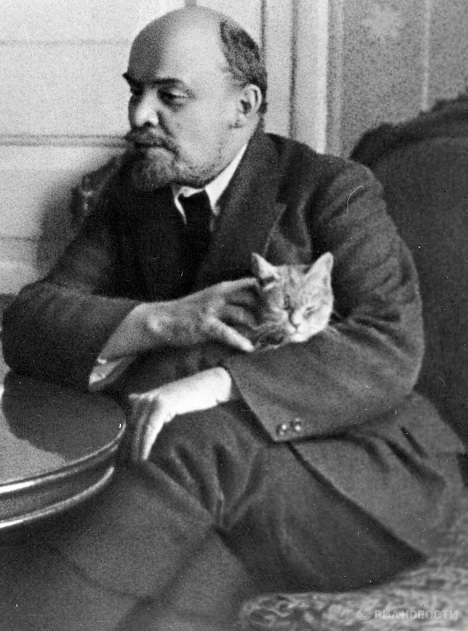 Lenin with cat