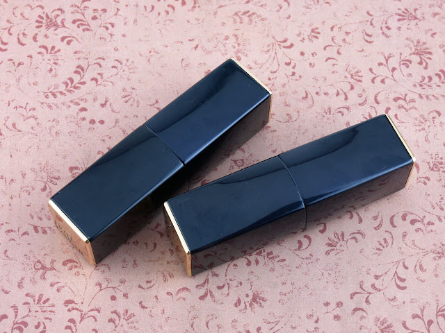 "Estee Lauder Pure Color Envy Matte Lipsticks in ""Decisive Poppy"" & ""Volatile"": Review and Swatches"