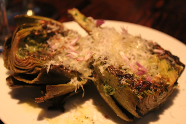 Stuffed artichokes at Coppa, Boston, Mass.