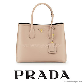 Crown Princess Mary Style PRADA Saffiano Bag