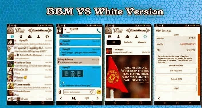 BBM Mod V8 V.2.7.021 Apk Themes Snow White For Android