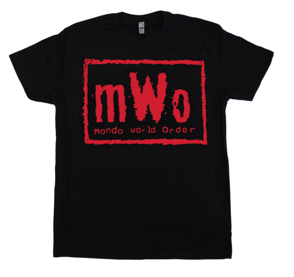 "Black and Red Wolfpac ""mWo"" Mondo x WCW T-Shirt"